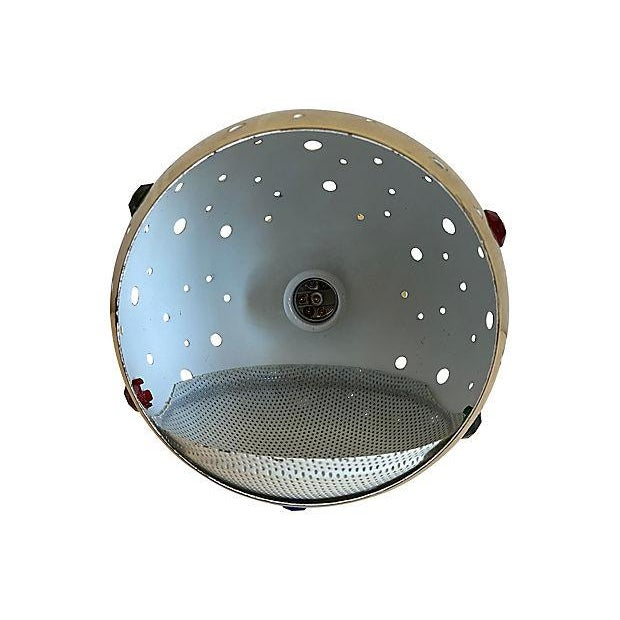 1960s Modern Perforated Flush Light For Sale - Image 9 of 11