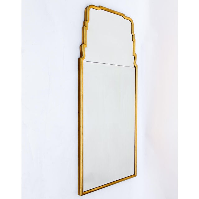 Gold Large Queen Anne Divided Plate Mirror For Sale - Image 8 of 12