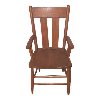 Early 20th Century Antique Child's Oak Armchair For Sale