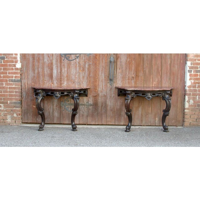 Ebonized Anglo Indian Console Table, Pair For Sale - Image 9 of 10
