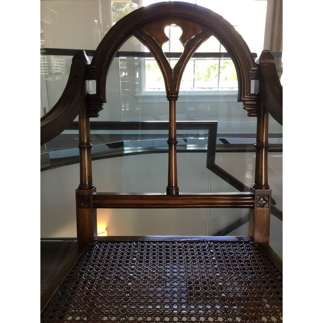 Caning Romanesque/Gothic Style Chairs For Sale - Image 7 of 13