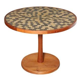 Jane & Gordon Martz Walnut and Ceramic Tile Top Coffee Table For Sale