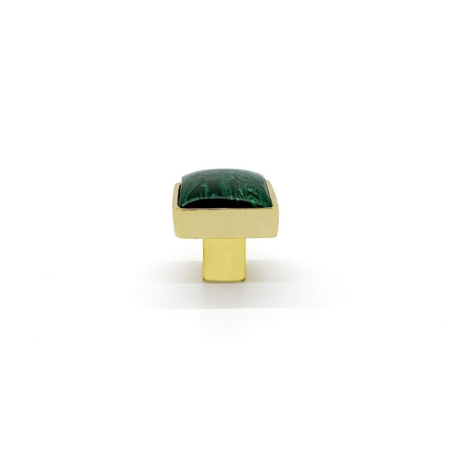 Contemporary Addison Weeks Horne Small, Brass & Malachite For Sale - Image 3 of 4