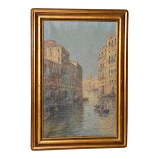 Karl Kaufmann (Aka Bertini) Venice Italy Oil Painting 19th Century For Sale