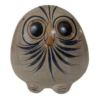 Mid-Century Mexican Pottery Tonala Owl For Sale