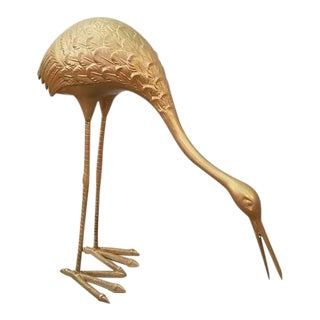 Elegant Vintage Bronze Kiwi Bird Statue For Sale