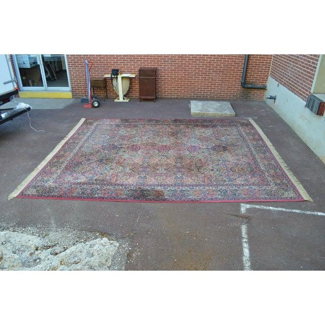 Karastan #717 Multi Panel Kirman Large Room Size Rug For Sale - Image 5 of 13