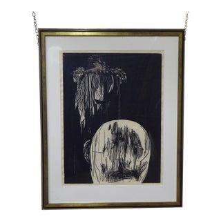 Leonard Baskin Lithograph Print For Sale