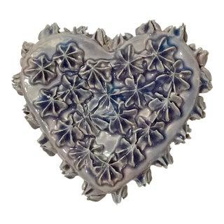 Flower Ceramic Wall Heart For Sale