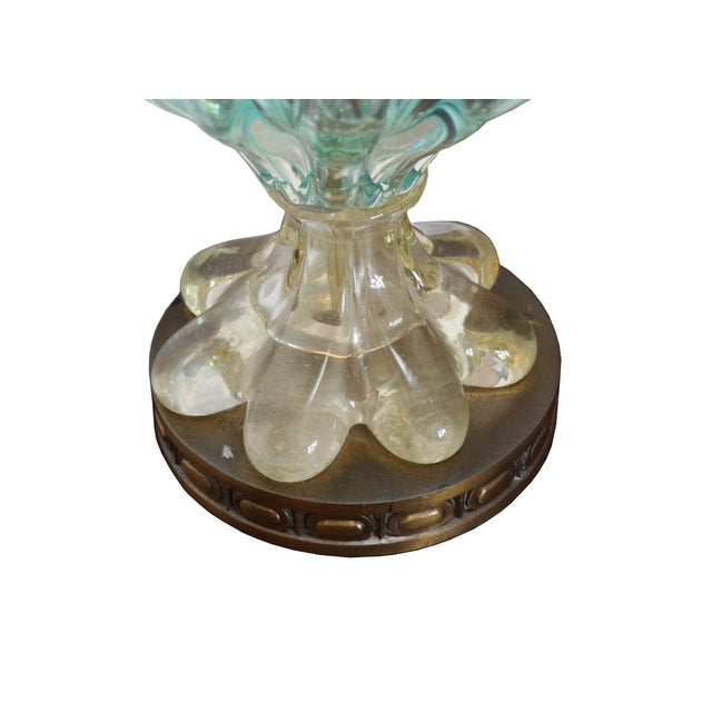 Italian Vintage Blue Ombre Murano Lamp For Sale - Image 3 of 4