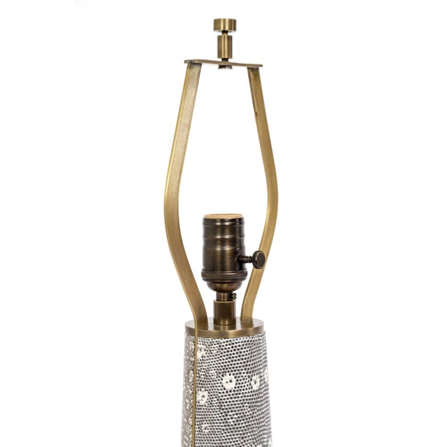 Tuell and Reynolds Lizard Skin & Bronze Borrego Lamp by Tuell + Reynolds For Sale - Image 4 of 7