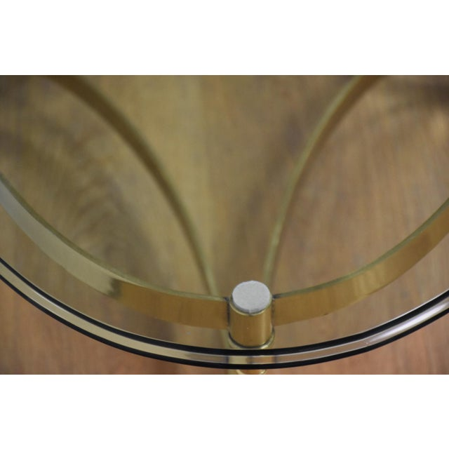 Hollywood Regency Brass & Glass Coffee Table - Image 5 of 8