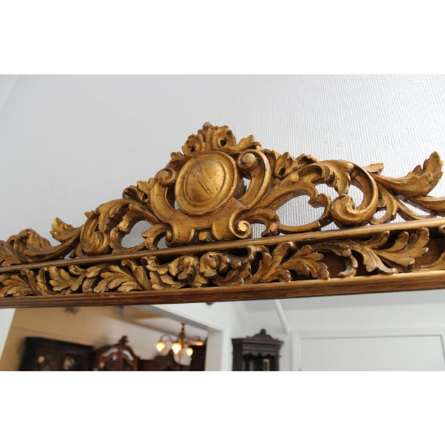 Baroque Antique French Gilt Rectangular Mirror For Sale - Image 3 of 6