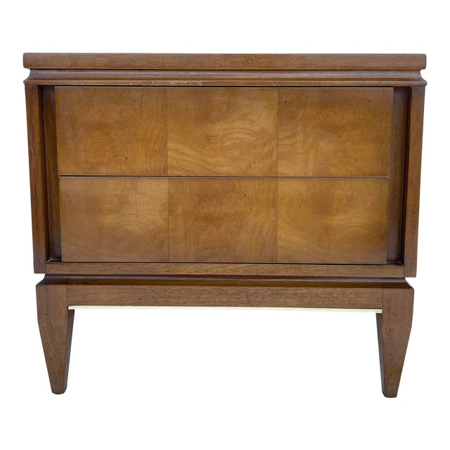 Mid-Century Two Drawer End Table or Nightstand For Sale