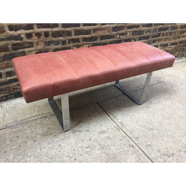 Upholstered Garrett Leather Bench - Image 2 of 7