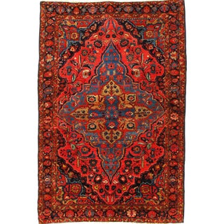 Late 19th Century Antique Persian Sarouk Farahan Rug - 3′8″ × 5′6″ For Sale