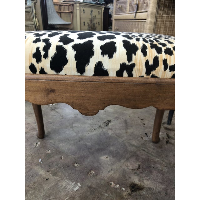 1910s 1910s Traditional Leopard Print Low Stool For Sale - Image 5 of 10