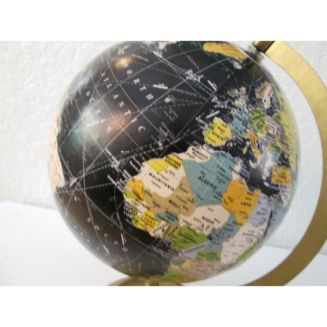 Black Spinning World Globe - Image 6 of 8
