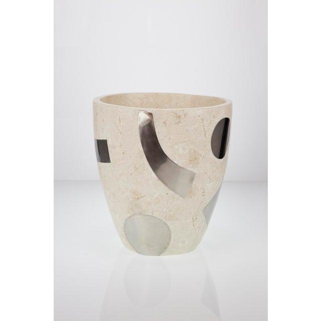 "1990s Vintage Medium Postmodern Tessellated Stone ""Et Cetera"" Planter For Sale - Image 10 of 10"