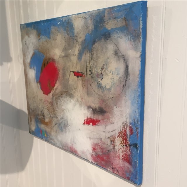 "Taffi Laing ""Poem"" Abstract Original Painting - Image 6 of 8"