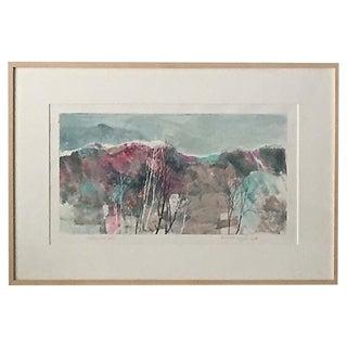Modernist Landscape by Katherine Chan Liu 1988 For Sale
