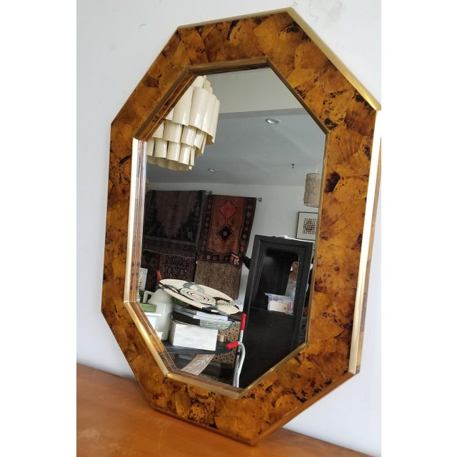 Mid-Century Modern Made Goods Octagon Mirror For Sale - Image 3 of 5