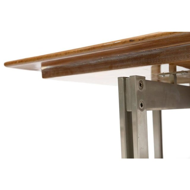 Burl Top Mid-Century Modern Coffee Table For Sale - Image 4 of 7