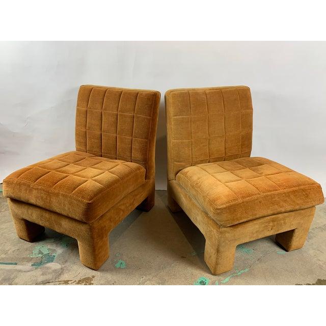 Milo Baughman Milo Baughman for Thayer Coggin Slipper Chairs - a Pair For Sale - Image 4 of 8