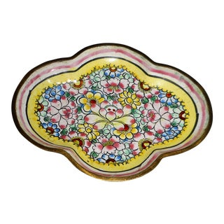 Antique Chinese Famille Rose Canton Enameled Small Tray For Sale