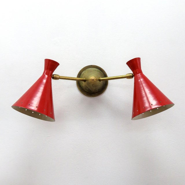 Red Italian Double Wall Light - Image 2 of 10
