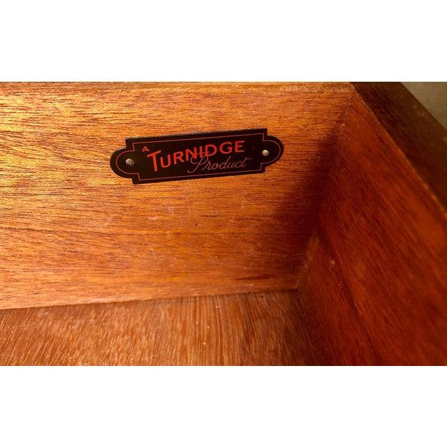 Mid Century Teak Secretary Desk by Turnidge of London For Sale - Image 9 of 13