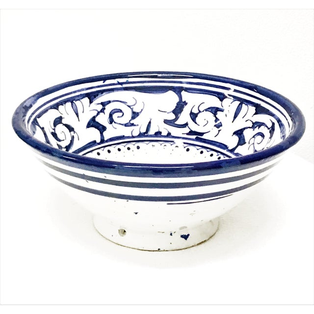 With a wonderfully intricate and harmonious arabesque design pattern, this handcrafted set of blue and white ceramic bowls...