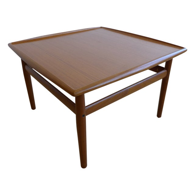 Grete Jalk Eames Era Teak Square End Table - Image 1 of 7