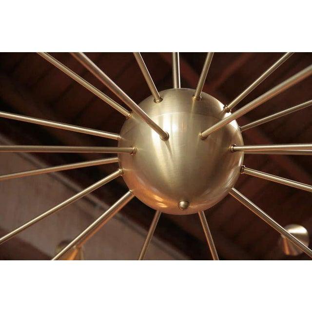 Brass Sputnik Chandelier with Twenty Arms For Sale - Image 5 of 9
