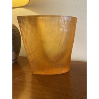 Vintage Orange Acrylic Vase by Terry Balle Preview