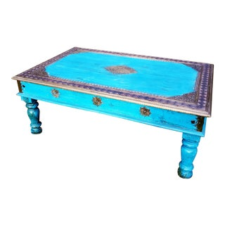 Indian Turquoise Table For Sale