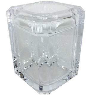 Lucite Ice Bucket With Swivel Top For Sale
