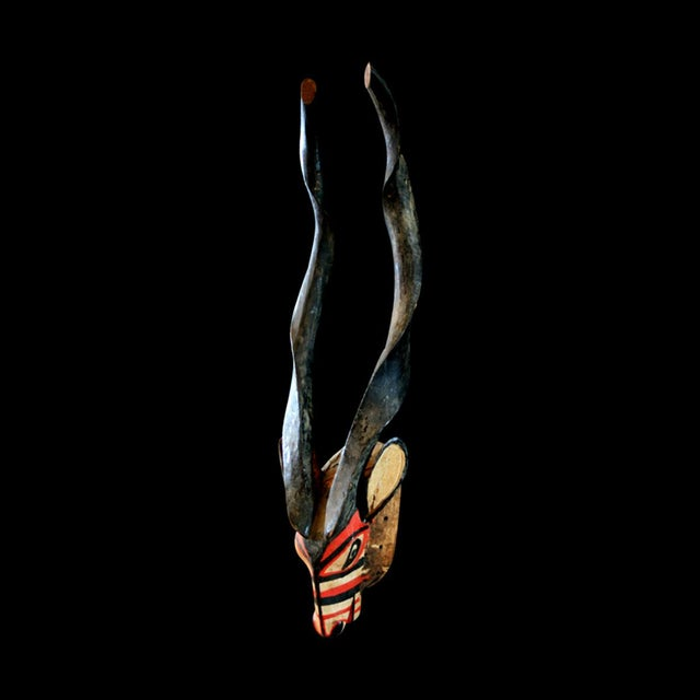 This powerfully-carved antelope mask was made by the bambara (or bamana) people of mali. It is an exceptional example,...