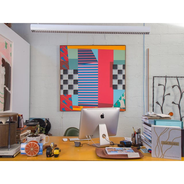 Trio of Large-Scale 1980s Abstract Paintings - 3 Pieces For Sale - Image 9 of 10