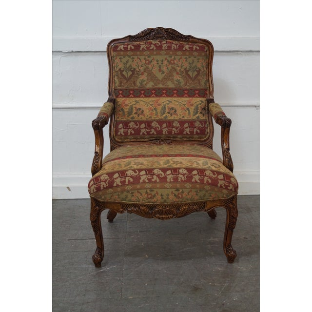 Hancock & Moore Louis XV Style Fauteuil Armchair - Image 2 of 10
