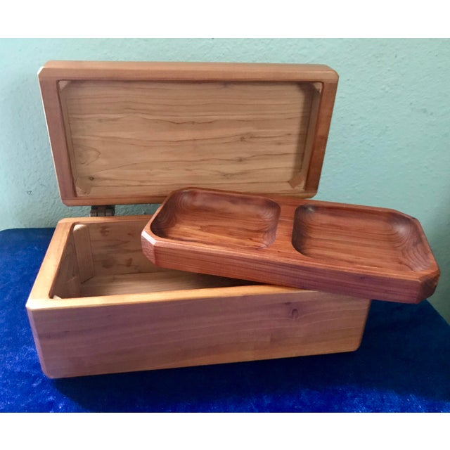Minimalist Hand Made Wood Vanity Dresser Box For Sale - Image 9 of 9