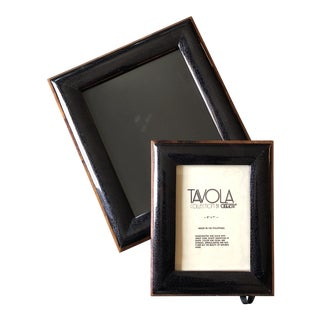 Vintage Tavola Collection by Oggetti Photo Frames 8 X 10 & 5 X 7 - a Pair For Sale