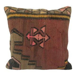 Vintage Turkish Decorative Kilim Pillow Cover For Sale
