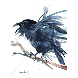 """Raven Giclee Print 11x14"""" For Sale"""
