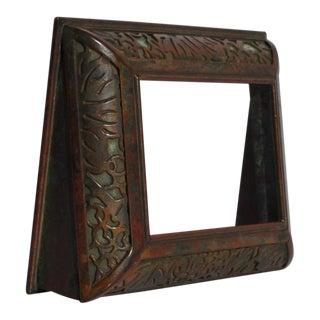 Tiffany Studios Bronze & Green Glass Grapevine Picture Frame For Sale