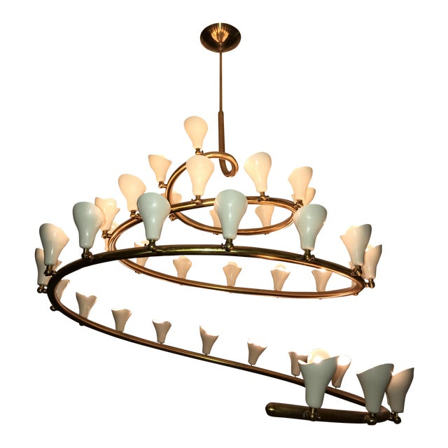 Gino Sarfatti for Arteluce Large Spiral Chandelier - Image 1 of 6