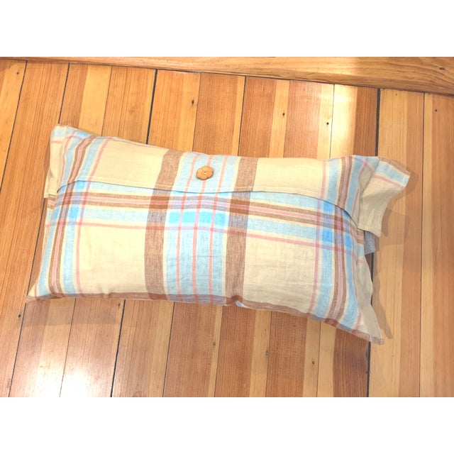 Linen Tea Towel Pillows- Set of 3 For Sale In Providence - Image 6 of 7