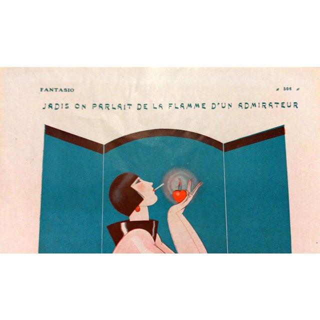 "1924 Fantasio ""Art Deco Smoker"" Print by To No - Image 2 of 5"