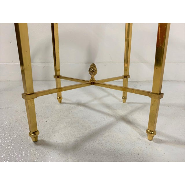 1950s French Gilt Bronze and Glass Gueridon Table For Sale - Image 5 of 8