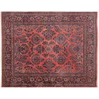 "Vintage Hand-Knotted Sarouk Rug - 8'1"" X 10'4"""